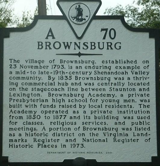 Brownsburg Village Sign