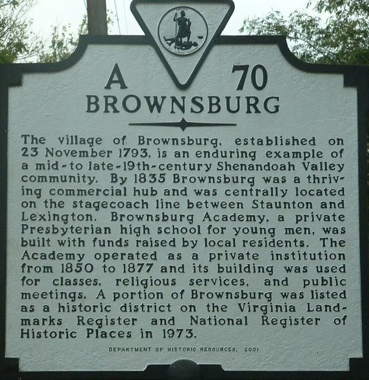 Brownsburg Village Sign